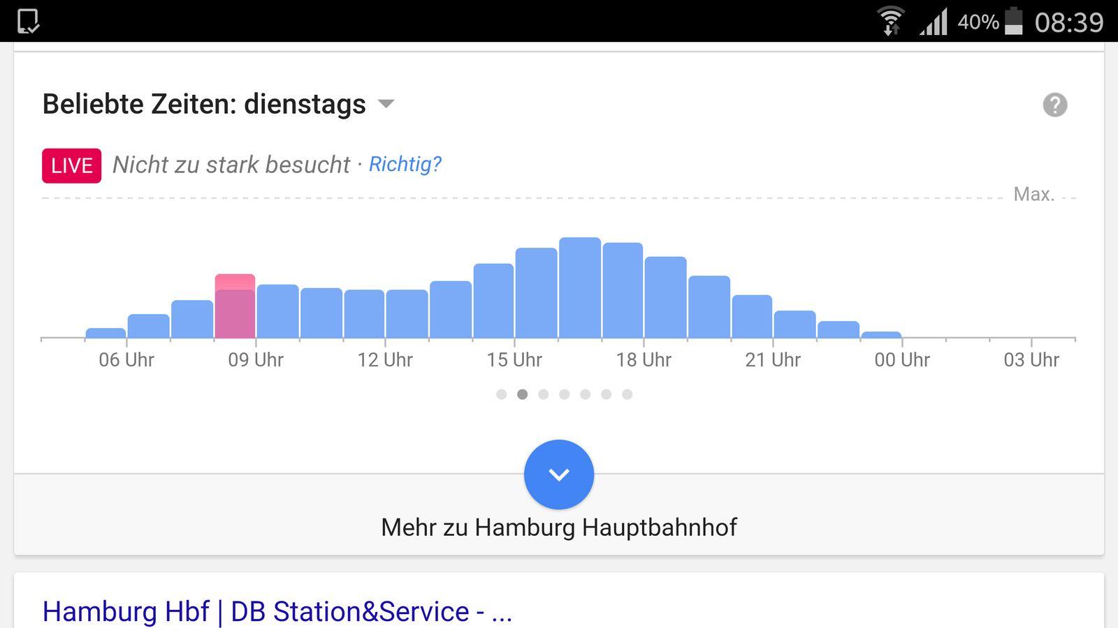 EINMALIGE VERWENDUNG Google Maps/ Hauptbahnhof Hamburg