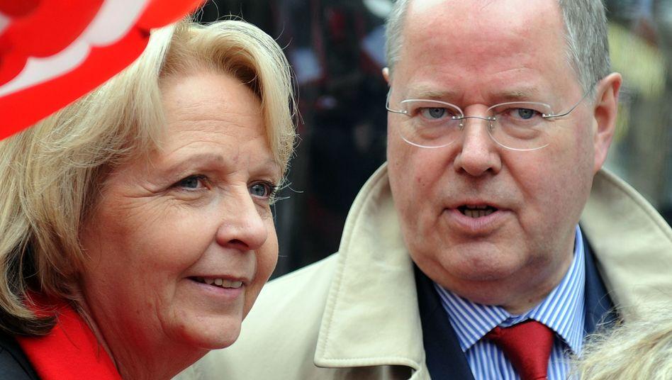 Ministerpräsidentin Kraft, Kanzlerkandidat Steinbrück: SPD-Leute unter sich