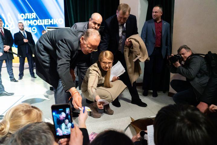 Julija Tymoschenko in Juschne