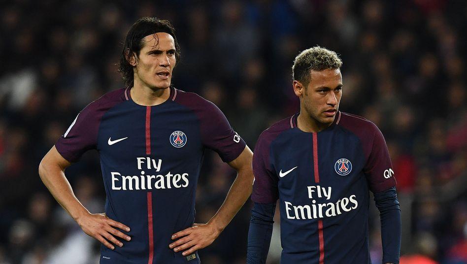 Edinson Cavani und Neymar (r.)