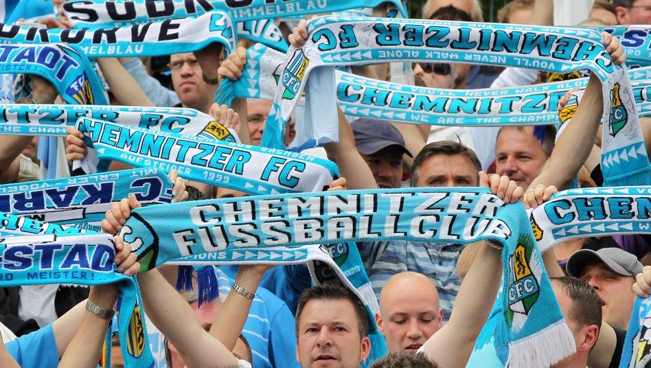 Chemnitz-Fans: Meister in der Regionalliga Nord