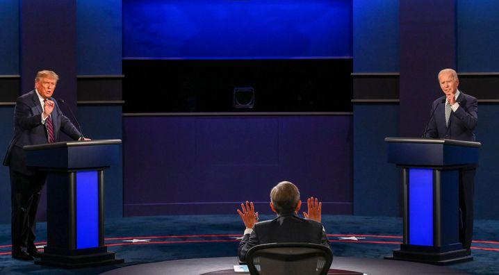 War die erste Debatte auch die letzte? Trump und Biden am Dienstag