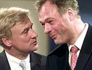 von Beust und Schill im September 2001: Da waren sie noch gute Freunde