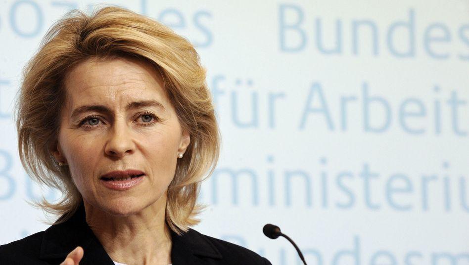 """Arbeitsministerin von der Leyen: """"Das Bild zum Positiven verändern"""""""