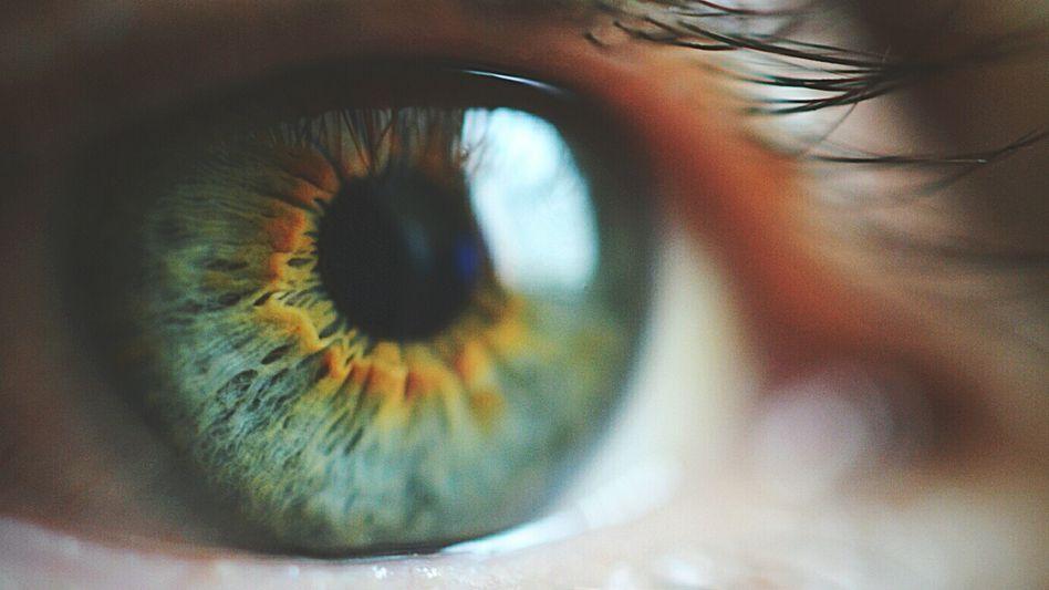 Aussehen blindes auge Blinde Kontaktlinsen