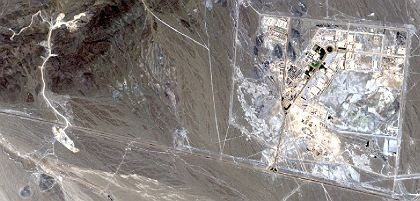 """A satellite image of the Natanz Uranium Enrichment plant in Iran: The regime in Tehran is a """"problem for the entire free world."""""""