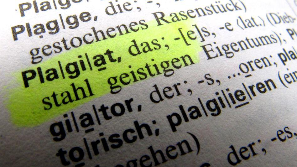 Plagiat-Eintrag im Wörterbuch: »Diebstahl geistigen Eigentums«