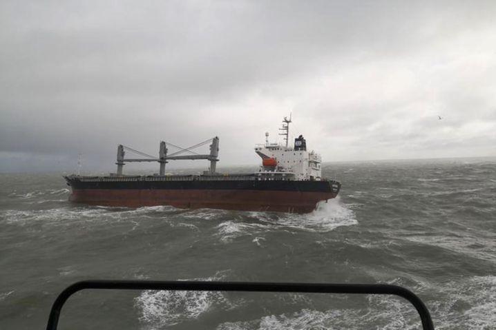 Auf der Nordsee herrschte laut Havariekommando zunächst Windstärke neun und starker Seegang