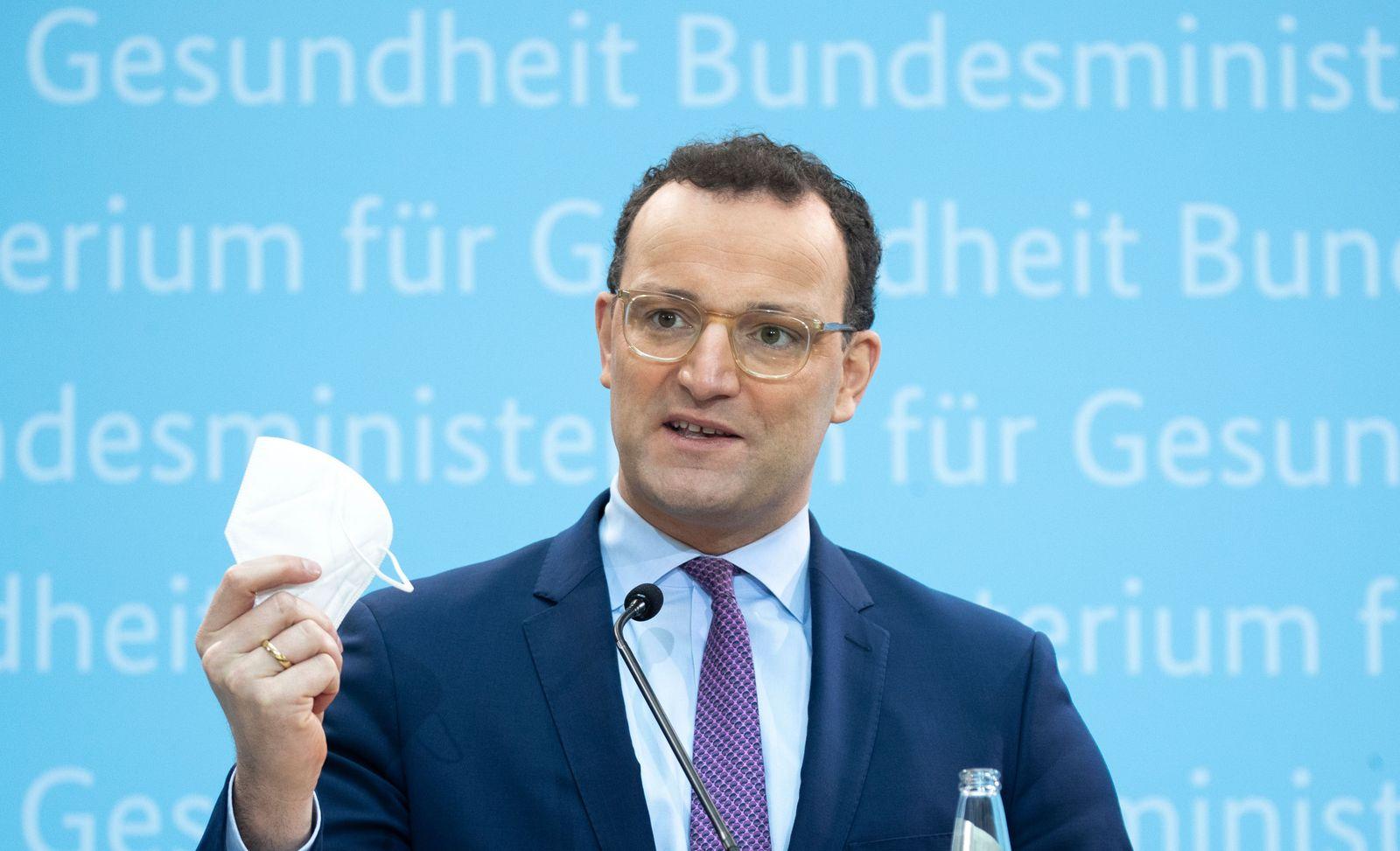 German health minister Spahn press conference, Berlin, Germany - 18 Jan 2021