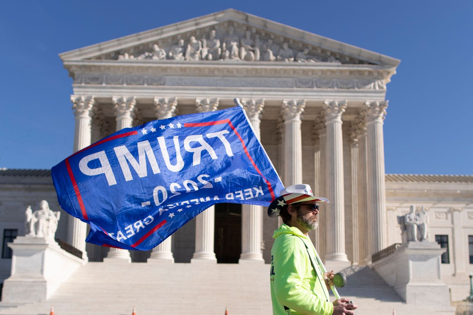 Trump supporters outside of the US Supreme Court, Washington, USA - 11 Dec 2020