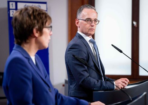 German Defense Minister Annegret Kramp-Karrenbauer and Foreign Minister Heiko Maas