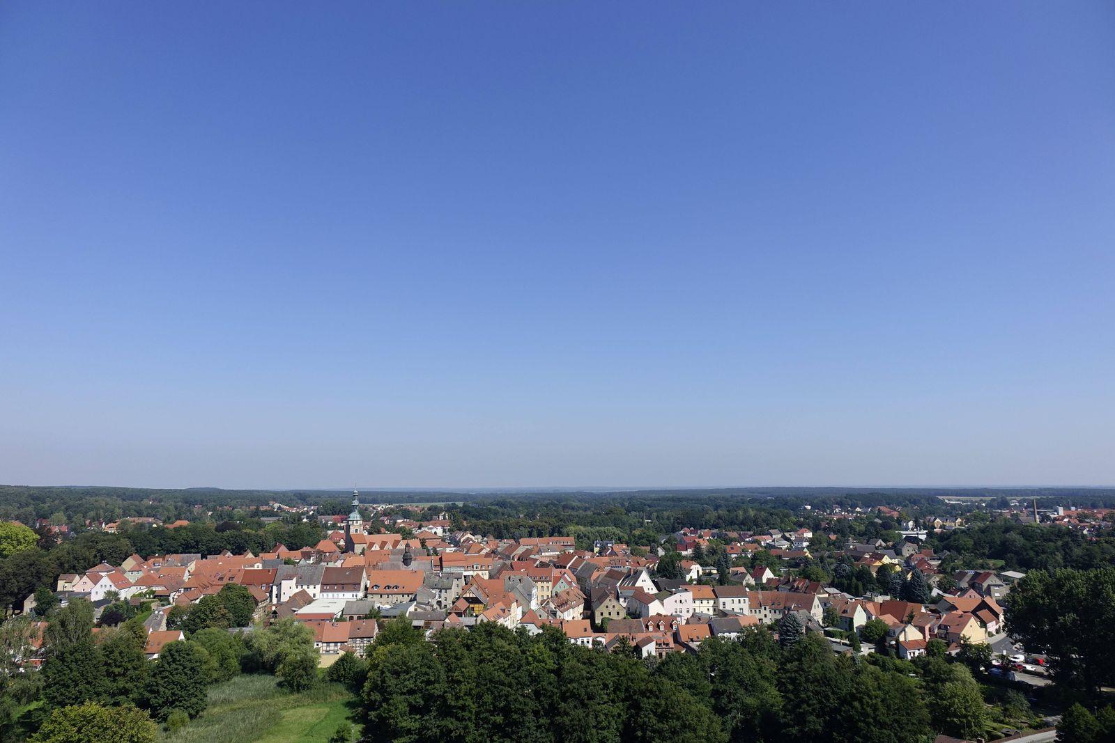 27 08 2016 Bad Belzig Brandenburg Bad Belzig von Burg Eisenhardt aus Ort Stadt Bad Belzig Hä