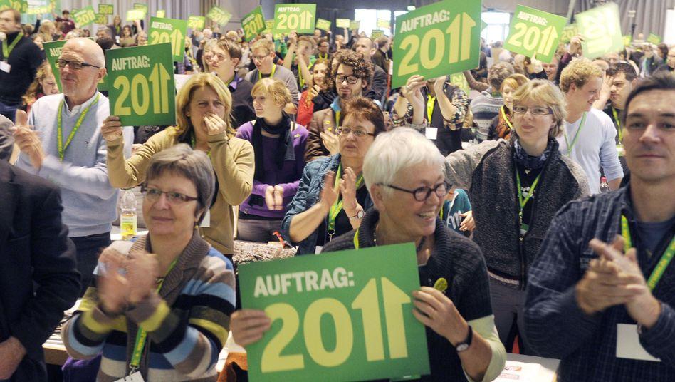 Grünen-Mitglieder beim Freiburger Bundesparteitag: Ungeahnter Zuspruch