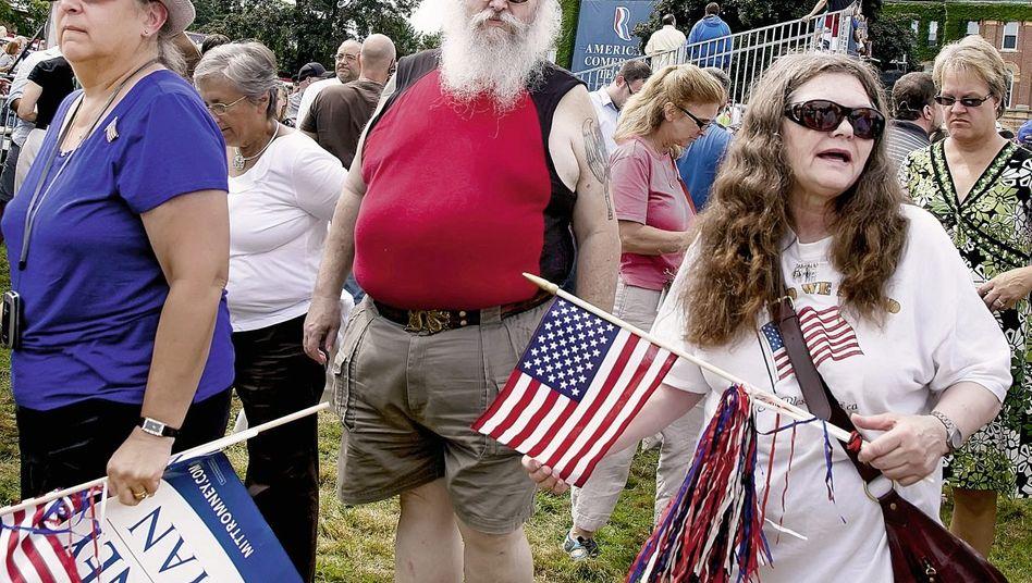 Republikaner bei Romney-Besuch in New Hampshire