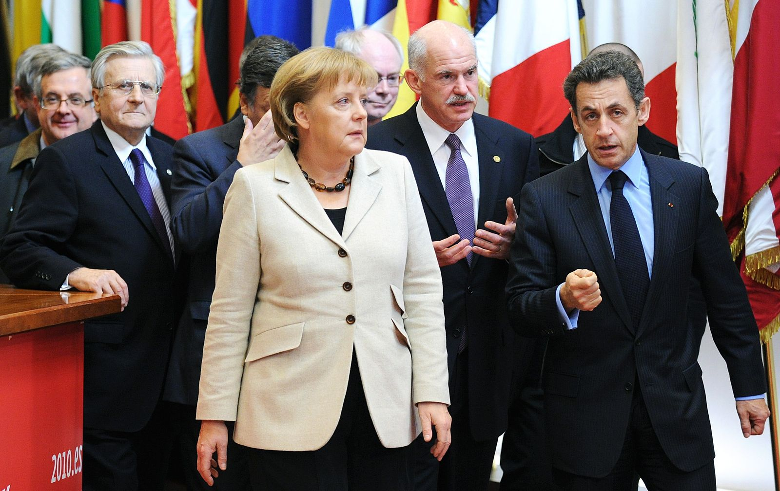 Merkel/ Sarkozy/ Papandreou