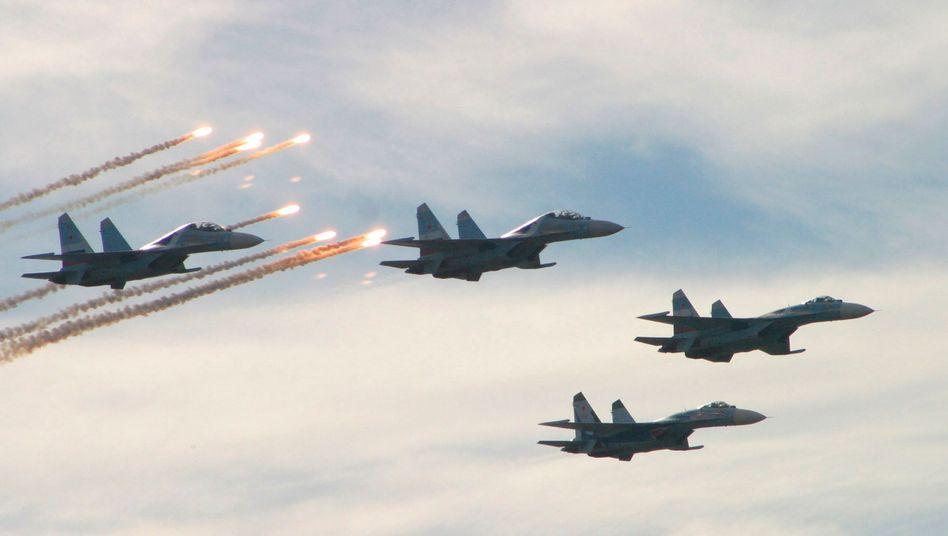 Russische Su-27-Flugzeuge (Archivbild): Luftwaffe startet Großmanöver