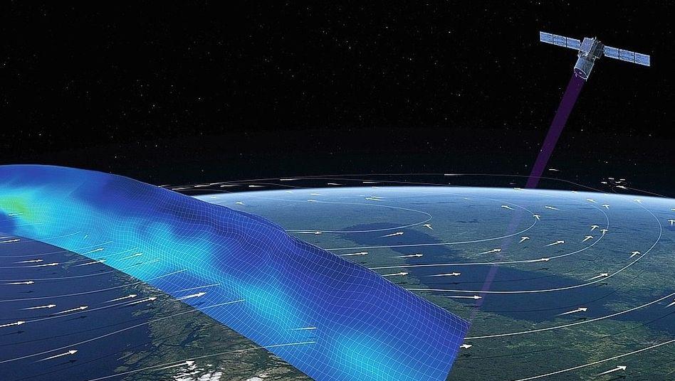 Windmesssatellit Aeolus (Illustration)