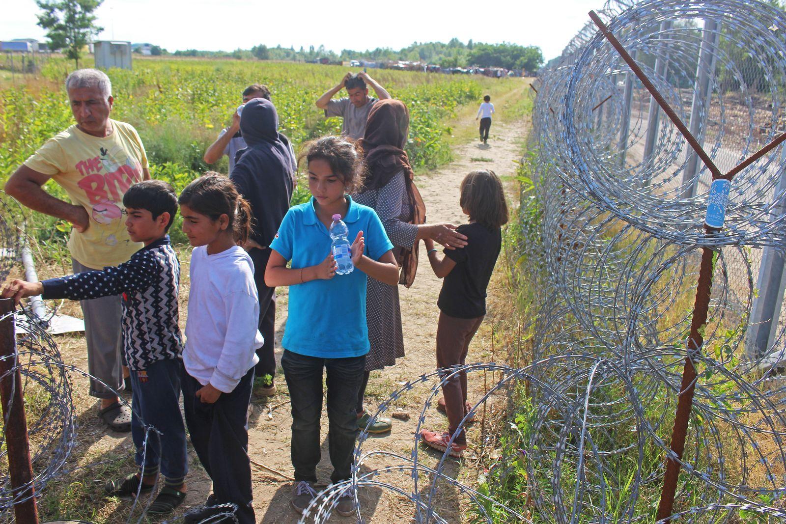Flüchtlinge in Röszke