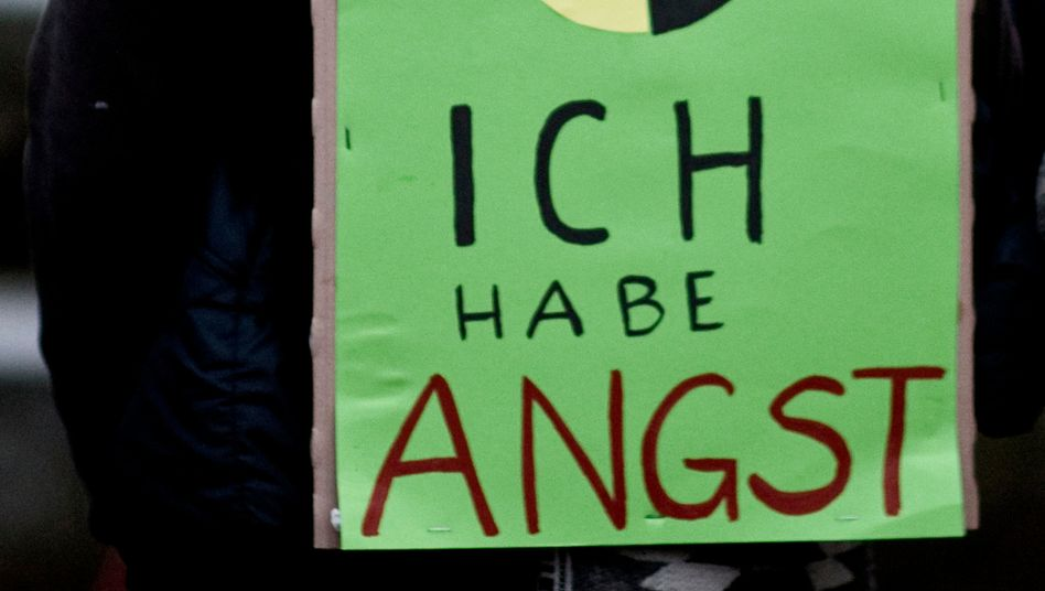 """I am afraid"" -- a German anti-nuclear campaigner in Potsdam on Monday."