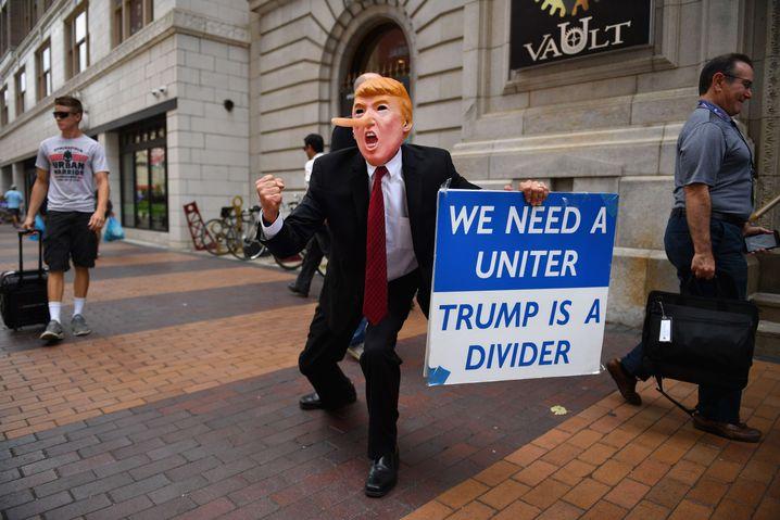 Anti-Trump-Protest in Cleveland, Ohio, Juli 2016