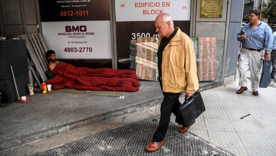 Leben ohne Dach auf dem Kopf: In Argentinien folgt auf das Coronavirus eine Wirtschaftskrise