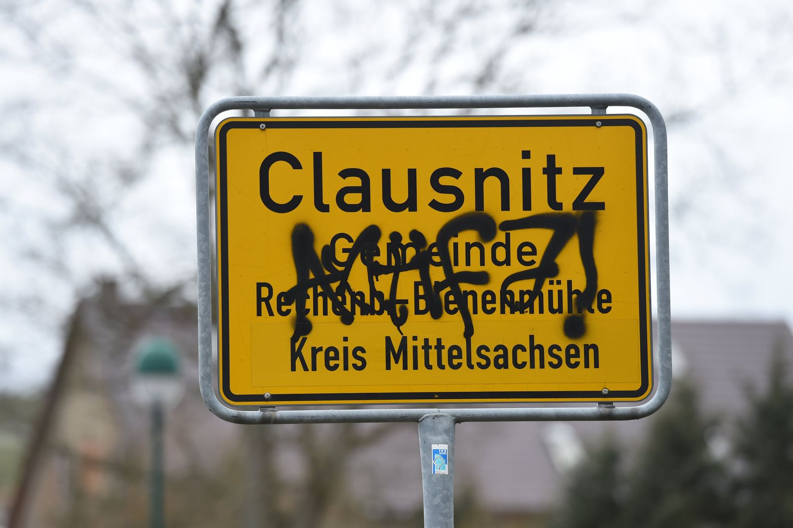 Ortsschild / Clausnitz