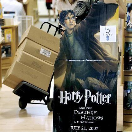 Harry-Potter-Aufsteller in US-Buchladen: Bücher bis Samstag verstecken