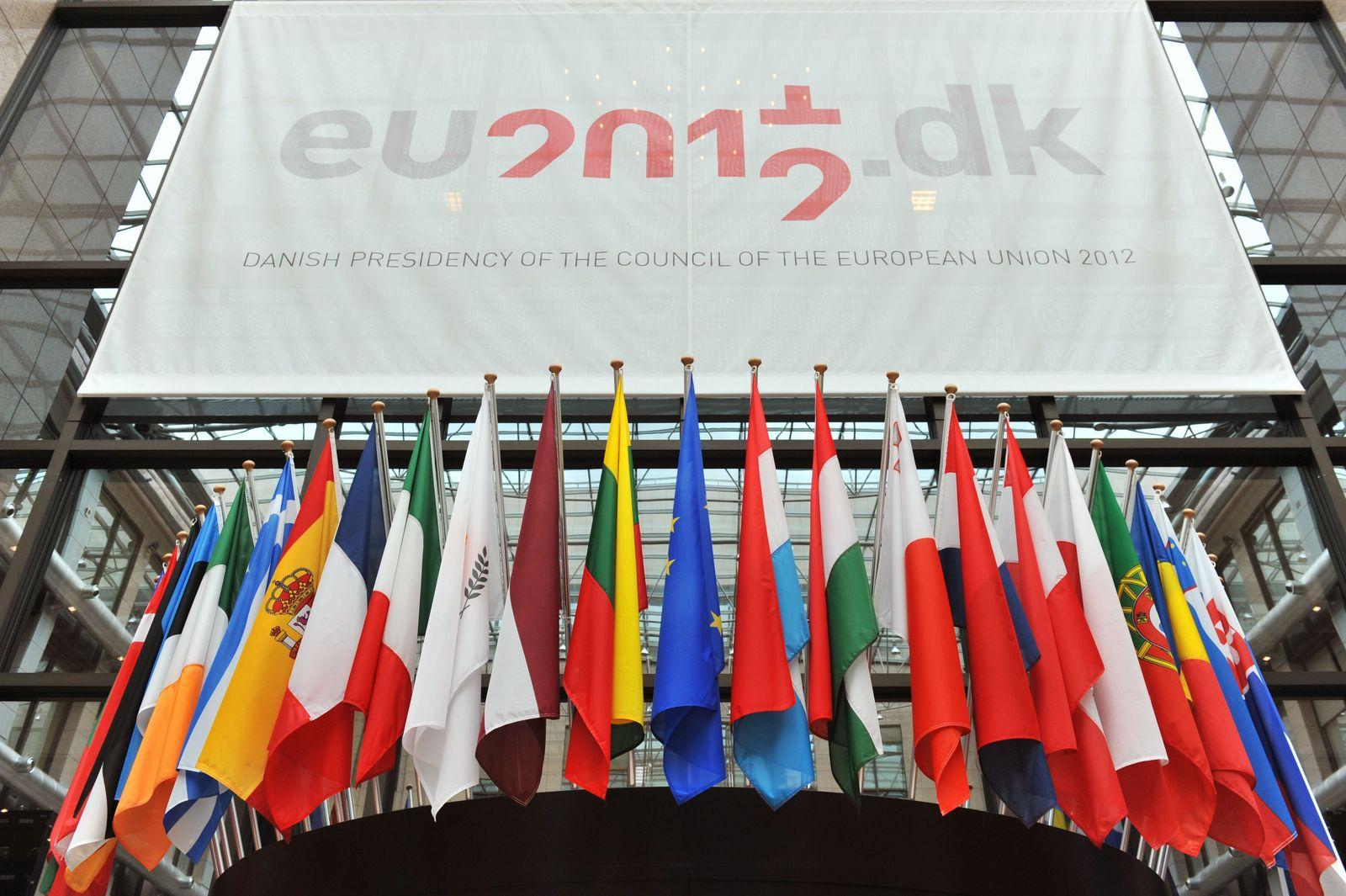 EU-Gipfel Brüssel Flaggen