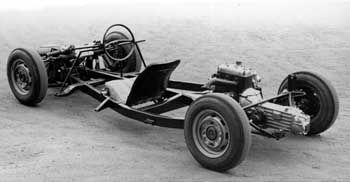 Bodengruppe mit brettharter Federung: Die Basis des Melkus RS 1000 bildeten das Fahrwerk und der Motor der Wartburg-Limousine