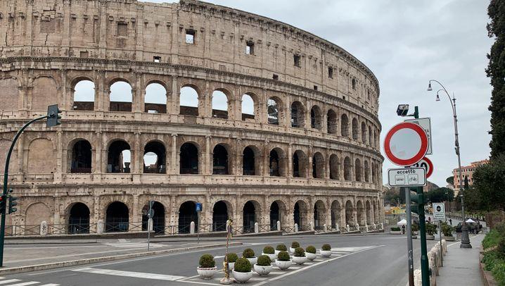 Menschenleeres Rom