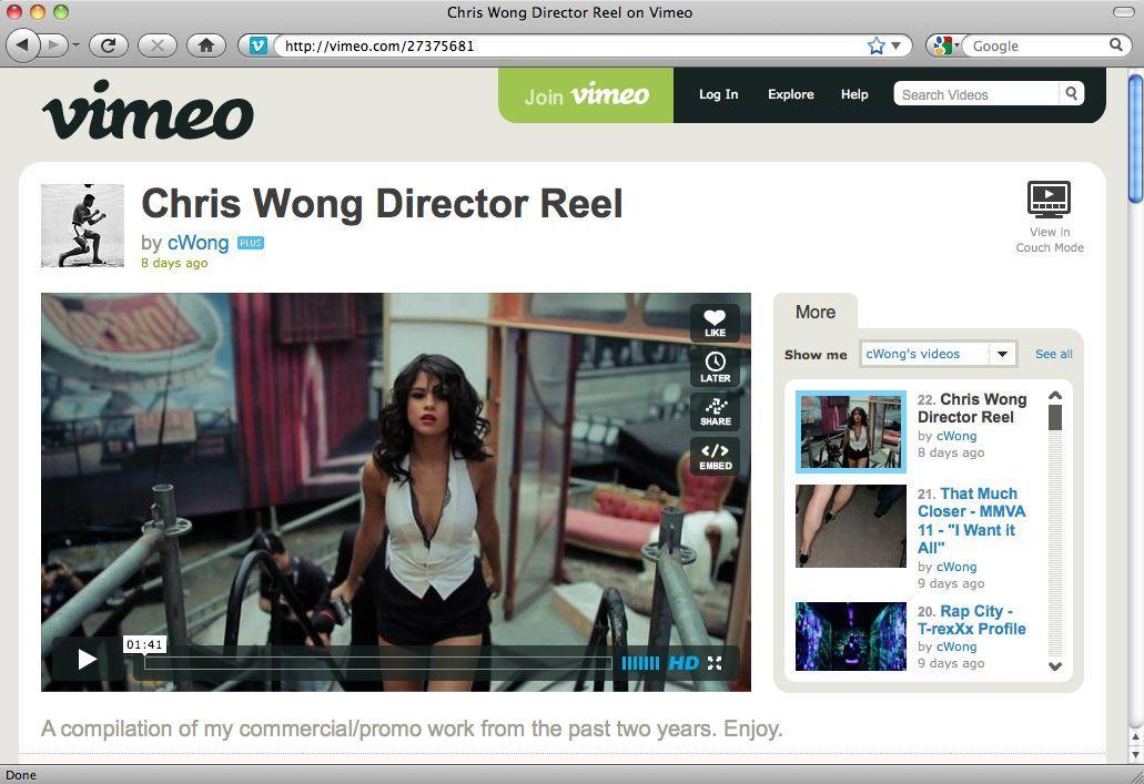 Screenshot/ Blogtipps 14.08.11/ Vimeo/ Chris Wong