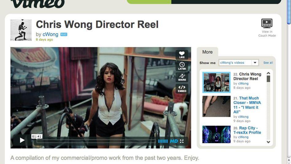 Musikfernsehen auf Vimeo: Chris Wong zeigt ein Best-of