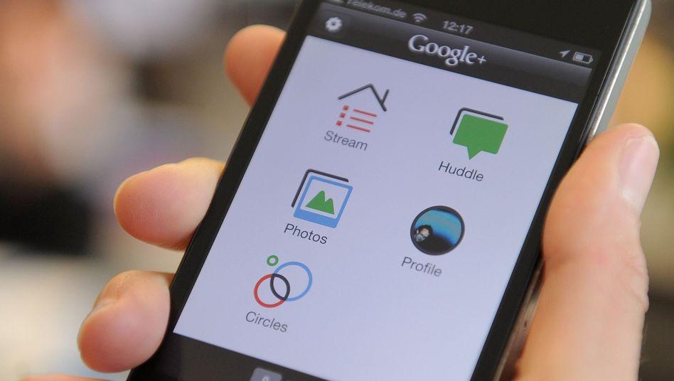"""Google+ auf einem Smartphone: """"Undurchdachte Kurzschlussreaktion"""""""