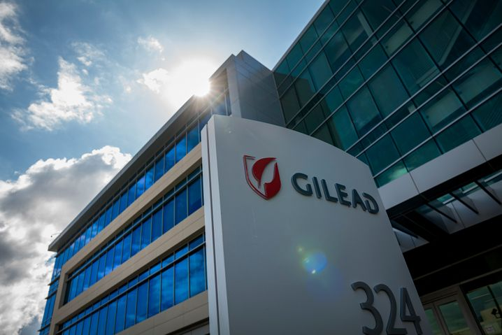 """Firmensitz von Gilead Sciences in Kalifornien: """"Wir warten auf Daten"""""""