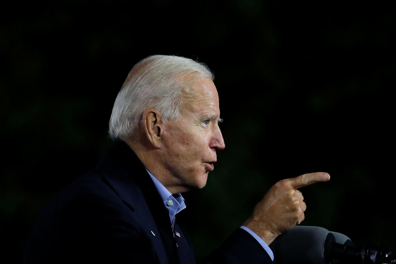U.S. Democratic presidential candidate and former Vice President Biden campaigns in Johnstown