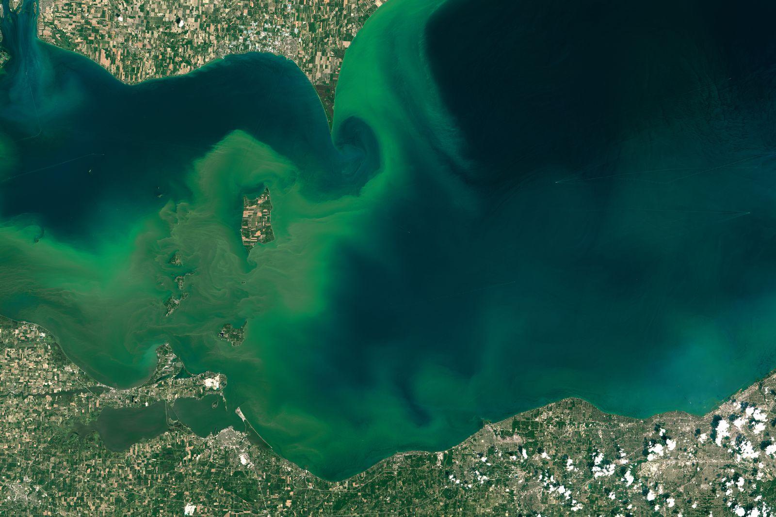 EINMALIGE VERWENDUNG Satellitenbild der Woche/ Lake Erie