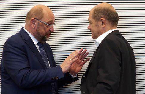 Ex-Kanzlerkandidat Schulz, Neu-»Kanzlerkandidat« Scholz