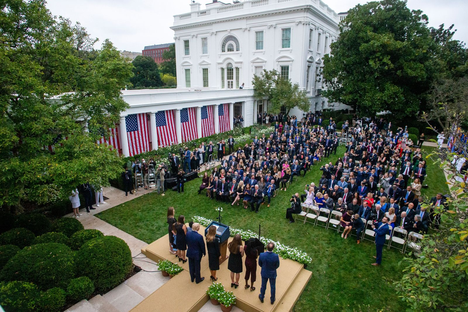 US President Donald J. Trump introduces Judge Amy Coney Barrett as his nominee to be an Associate Justice of the Supreme Court, Washington, USA - 26 Sep 2020
