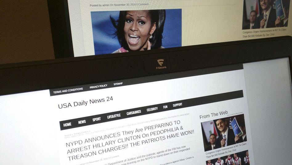 """Erfundene Meldung von """"USA Daily News 24"""""""