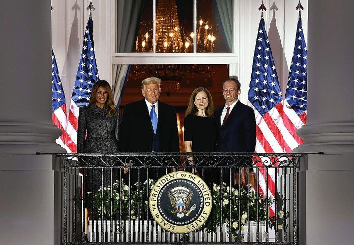 President Trump, judge Barrett and their spouses: None of his predecessors transformed the American judicial system as fundamentally in such a short time.