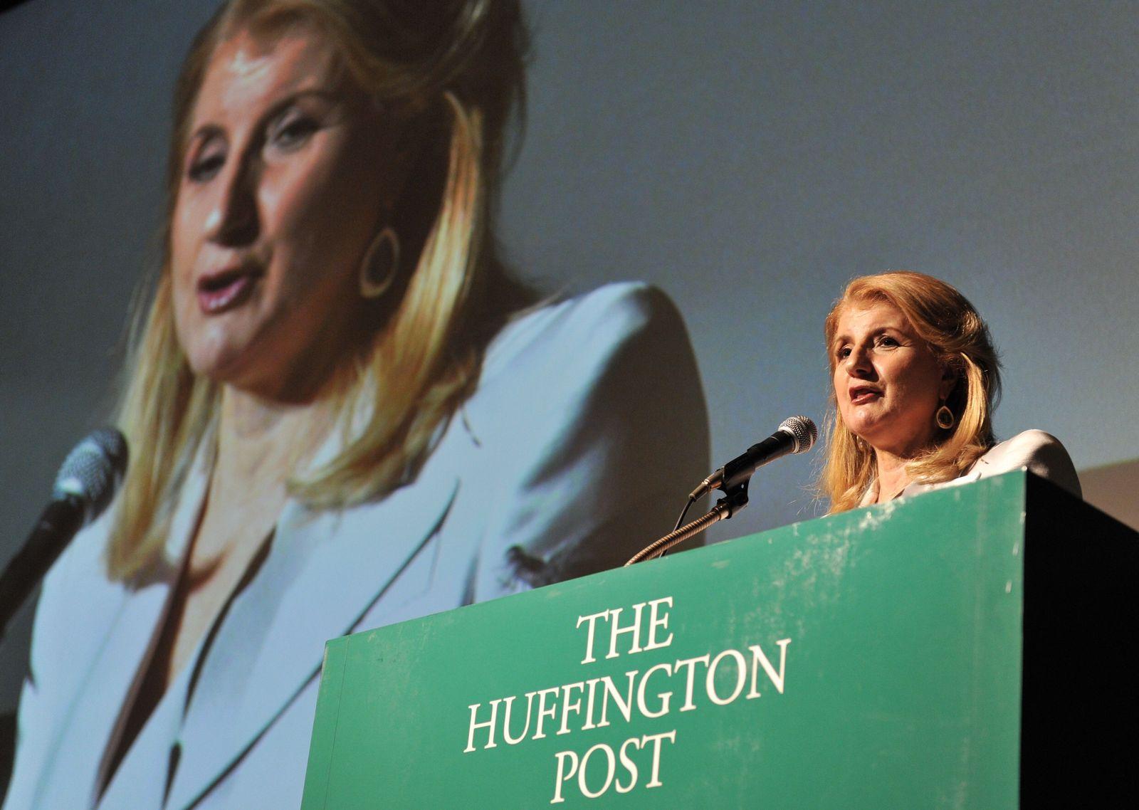 Arianna Huffington im Mai in Tokio