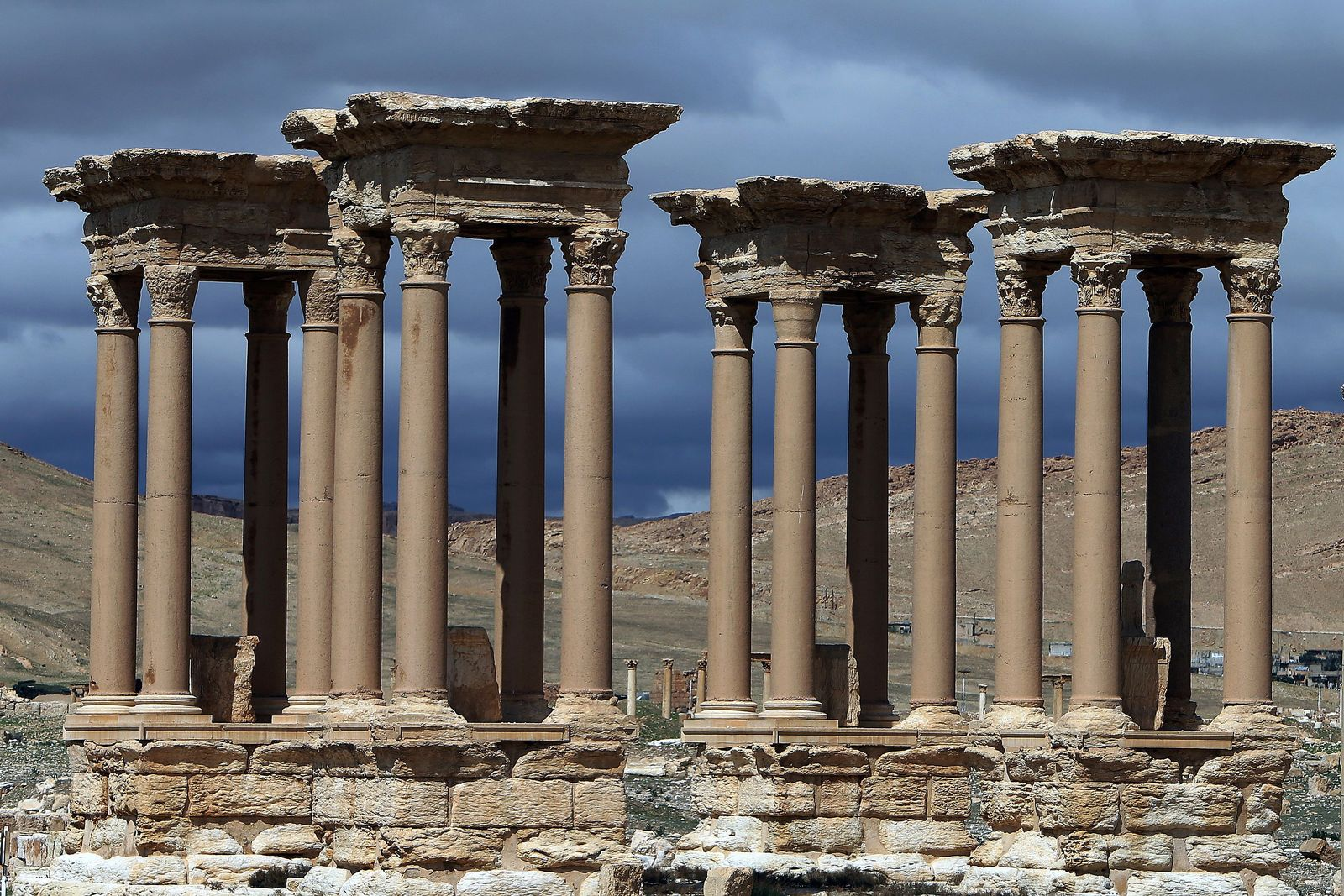Syrien / Palmyra / Tetrapylon