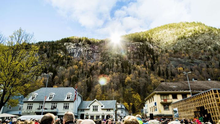 Rjukan in Norwegen: Die Wintersonnenwende