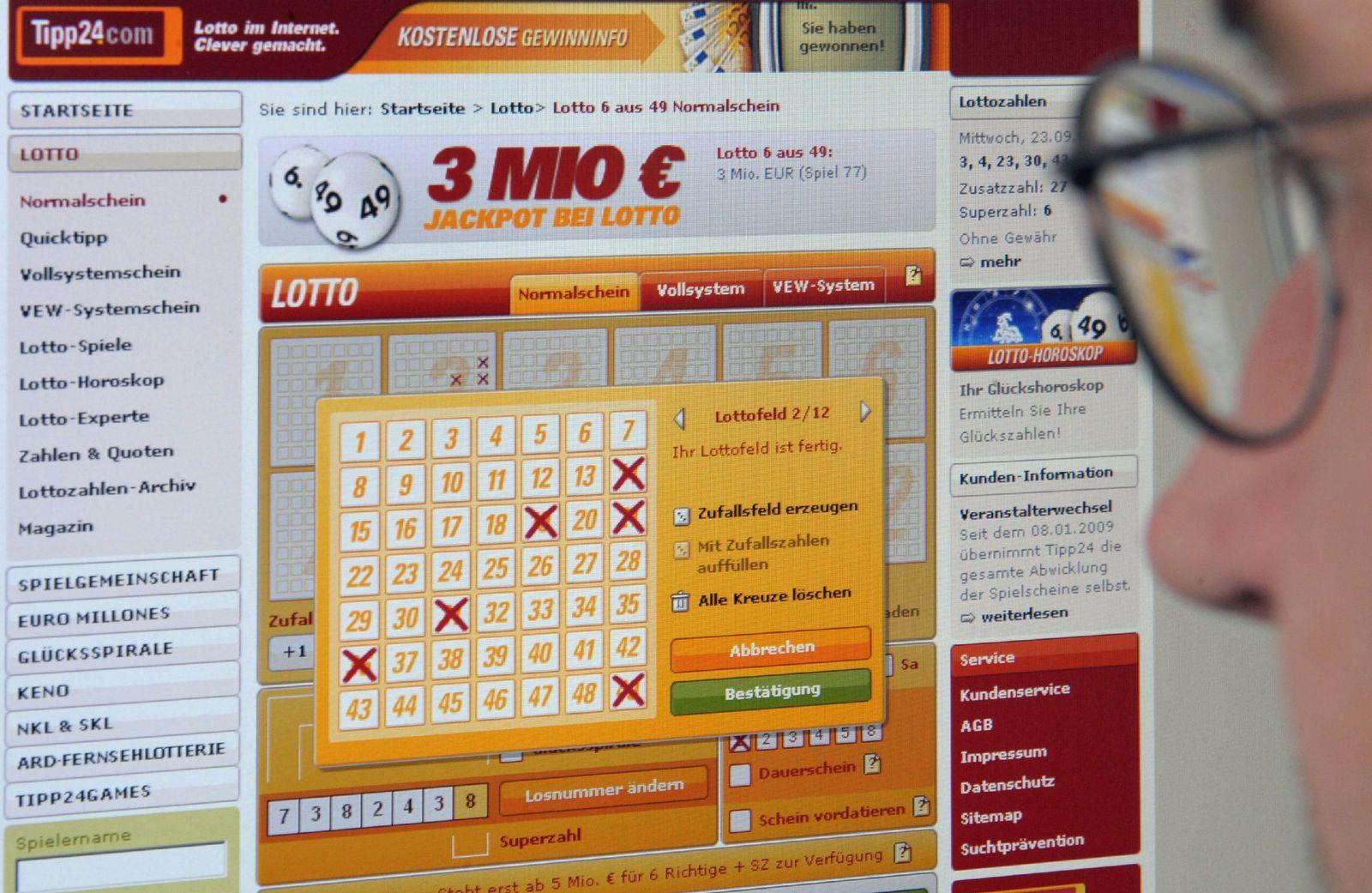 Millionengewinn im Internet-Lotto