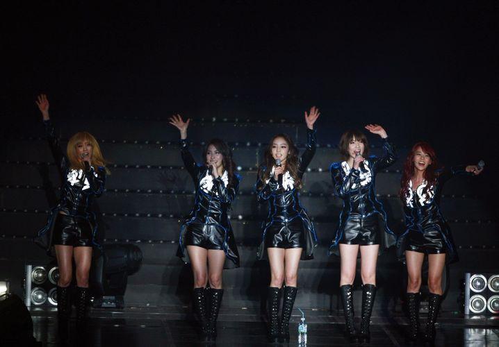 Nationale Stars: Die Gruppe Kara bei einem Konzert im Jahr 2012