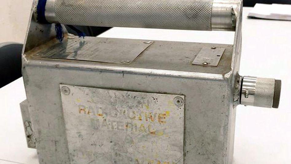 Behälter mit Iridium-192 (Archivbild von 2015)