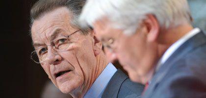 SPD-Chef Müntefering, Kanzlerkandidat Steinmeier: 2009 wird nicht einfacher für die Sozialdemokraten