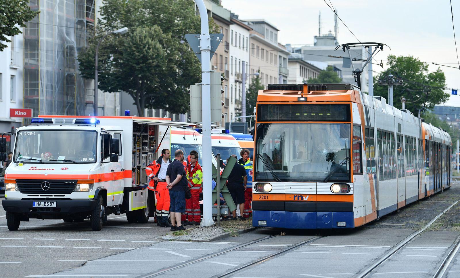 Straßenbahnunfall/ Mannheim