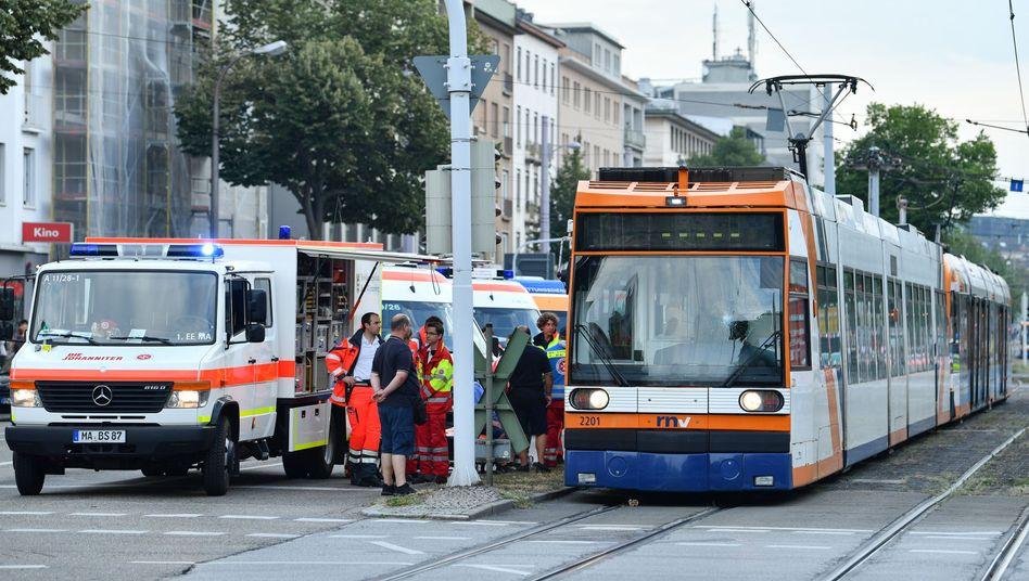 Unfallort in Mannheim