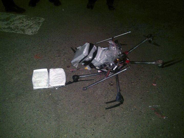 Abgestürzte Drohne mit Meth-Ladung in Tijuana 2015